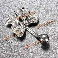 Кристалл лук симпатичные кнопки живота кольца пупка пирсинг ювелирные изделия тела