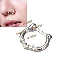 Серебряный пирсинг носа кольцо стержня повелительницы женщин вешалка клип ювелирных изделий