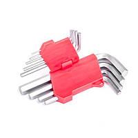 Набор Г-образных шестигранных ключей 9 шт., 1.5-10 мм, Cr-V INTERTOOL HT-0601, фото 1