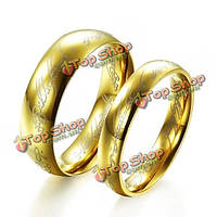 18k позолоченный Властелин колец LOTR кольцо из нержавеющей стали унисекс