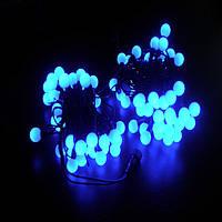 СВЕТОДИОДНАЯ БАХРОМА шарики 3х0,5 -синий, фото 1