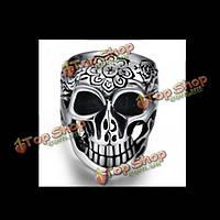 316l Хромоникельные серебро мужчины женщины кольцо черепа панк-рок