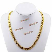 Золото 18k покрыло 10mm Кетте 24inch ожерелье ювелирных изделий