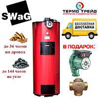 Котел длительного горения Swag (Сваг) D 25 кВт -  дровяной, с автоматикой