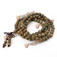 Ожерелье из бисера сандаловое дерево