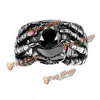Кольцо мужское стальное Череп