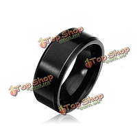 Полировка мужская вольфрама сталь черная полоса кольца мужчин ювелирные изделия