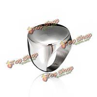 Серебро титана стали круглого полированного кольца для мужчин