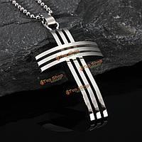 Крест сетки кулон цепь мужчин из нержавеющей стали серебряное ожерелье подарок