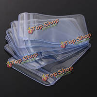 100шт ziplock почтовый многократно ПВХ прозрачные пластиковые пакеты 50x50мм
