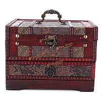 Ретро античный цветок резные деревянные украшения ящик для хранения контейнеров кейс