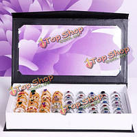 72 слоты кольцами держатель Box лоток органайзер витрина дисплея ювелирных изделий