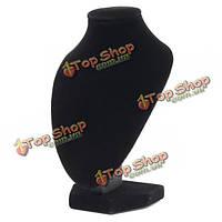 Черный бархат кулон ожерелье цепь шеи бюст ювелирные изделия держатель стенд