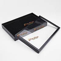 Красочные держатель дисплея ювелирных изделий показывают ящик для хранения кейс кольцо серьги