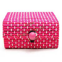 Древесины бамбука ювелирных изделий коробка подарка кольца серьги браслет кейс для хранения