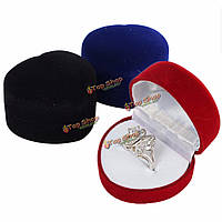 Стекаются в форме сердца серьги ювелирные изделия кольца свадьба подарочной коробке