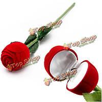 Коробочка для кольца Красная роза