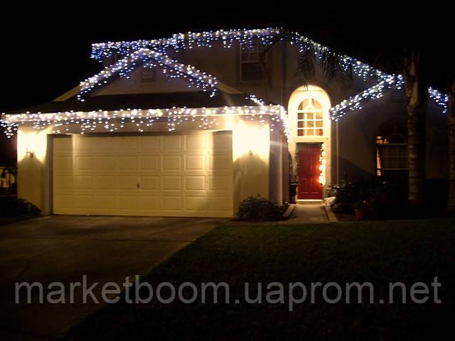 Светодиодная гирлянда бахрома, новогоднее оформление дома