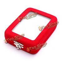 Красный бархат ожерелье кулон Джейд ювелирные изделия коробки корпус дисплей держатель