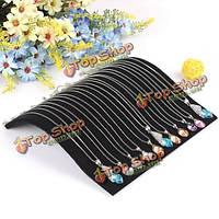 Подставка для кулонов и цепочек черный бархат