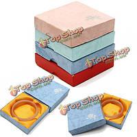 Квадратный картон браслет браслет ювелирных изделий коробка подарка футляр для хранения