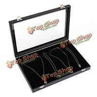 20 сеток ожерелье браслет ювелирных изделий дисплей лоток для хранения окно организатор