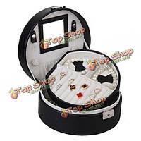 Змеиная кожа сектора кольца ожерелья ювелирных изделий органайзер для хранения Box дело