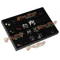 24 сеток дисплей ювелирных изделий коробка для хранения pin уха организатор держатель случае