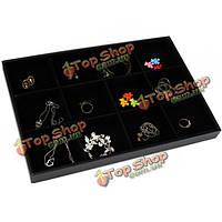 12 сеток дисплей ювелирных изделий коробка для хранения pin уха организатор держатель случае
