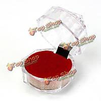 Кристалл серьги-кольца витрине ювелирного подарок коробку
