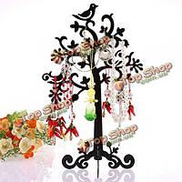 Металл дерево птица серьги браслет ожерелье кольцо стойки дисплея ювелирных изделий держателя