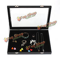 Большие ювелирные изделия лоток ящик для хранения ожерелья серьги браслеты витрина