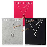 11 крючки ювелирных изделий бархата цепи ожерелье дисплей держатель для хранения подставка