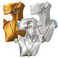 Смола манекен ожерелье серьги дисплея ювелирных изделий стенд витрина