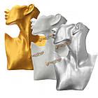 Бюст для украшений подставка-стенд серебо/золото 29см, фото 3