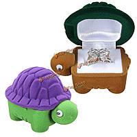 Бархатная коробочка для украшений Черепаха