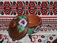Соусник из глины с рисунком
