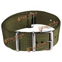 Мужские военные армия зеленый черный нейлон спортивные наручные часы группа