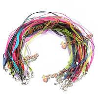 20шт смешанного Омар застежка ожерелья строку лента из органзы вощеный шнур