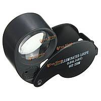 Глаз часы лупа стекло LED свет ювелирные изделия лупа объектив 40 х 25 мм