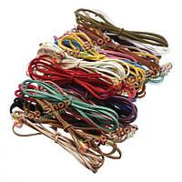 3мм разноцветный кожаный шнур замши кружева браслеты колье DIY решений