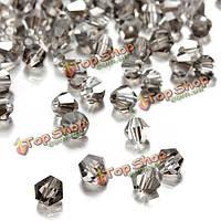 100шт кристалл стеклянные бусы ромб изготовления ювелирных изделий аксессуары