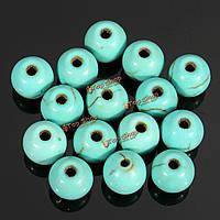 100шт 6мм круглый бирюзовый свободные шарики прокладки ювелирных изделий
