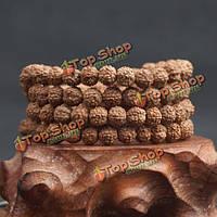 Мытья Сид 108pcs 8мм рудракши четки буддийские тибетская джапа-мала