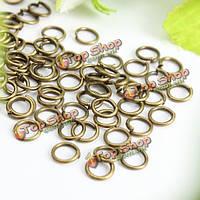 100шт открыть перейти кольца разъемы ювелирные изделия DIY ремесла золото серебро бронза