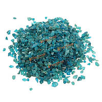 Настройки натуральный голубой зеленый камень апатит грубый минеральные 100g поделок