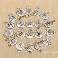 20шт старинные антикварные серебро дерево жизни ожерелье очарование DIY