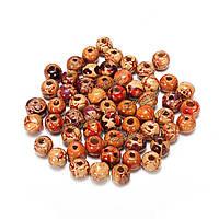 100шт смешанный лес круглый прокладка шарма свободные шарики ювелирных поделок
