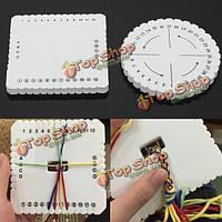 Круглый квадрат рука плетеный канат браслет пластина инструмент поделки ткачества