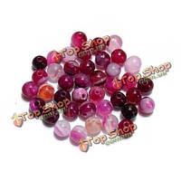 Полосы агата шарики Gemstone круглый распорных свободные шарики